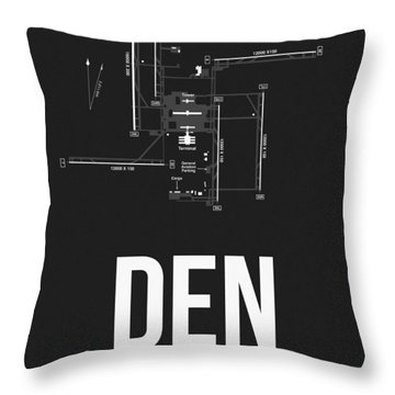 Denver Airport Poster 1 Throw Pillow