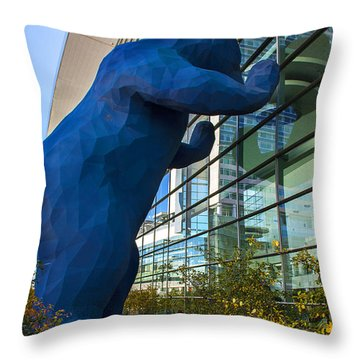 Denver Bear Throw Pillow