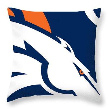 Denver Broncos Football Throw Pillow