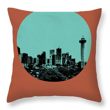 Denver Circle Poster 1 Throw Pillow