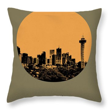 Denver Circle Poster 2 Throw Pillow