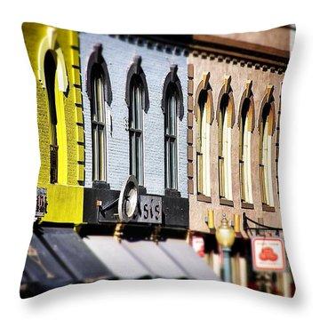 Denver Market Street Tilt Shift Throw Pillow by For Ninety One Days