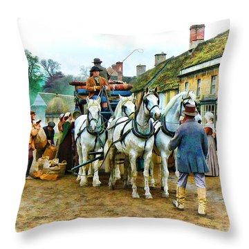Departing Cranford Throw Pillow