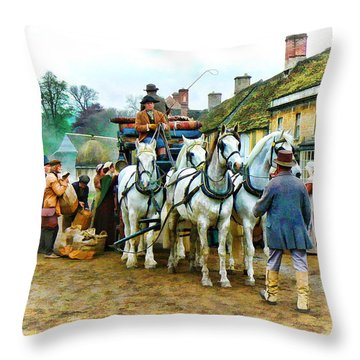 Departing Cranford Throw Pillow