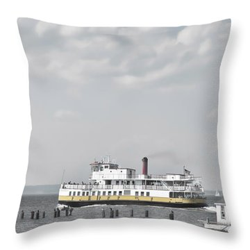 Throw Pillow featuring the photograph Departure by Richard Bean
