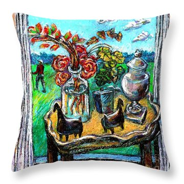 Departure Throw Pillow by Stan Esson