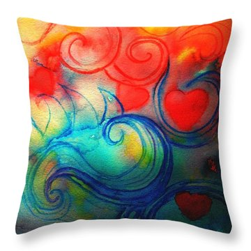 Throw Pillow featuring the painting Depths Of His Love by Hazel Holland