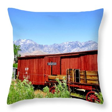Throw Pillow featuring the photograph Derailed by Marilyn Diaz