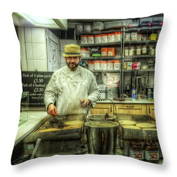 Derby Pyclet And Oat Cakes Throw Pillow by Yhun Suarez