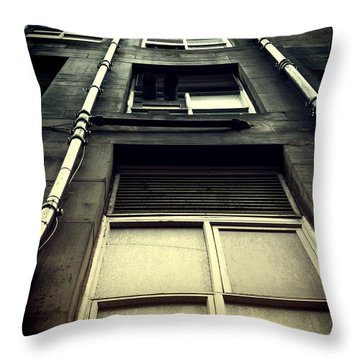 Throw Pillow featuring the photograph Derelict Building by Craig B