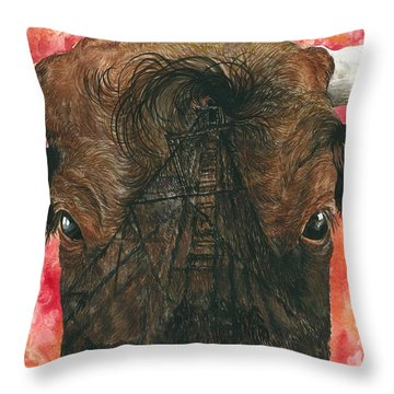 Derricks And Cowlicks Throw Pillow
