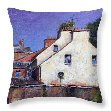 Derry Gables Throw Pillow