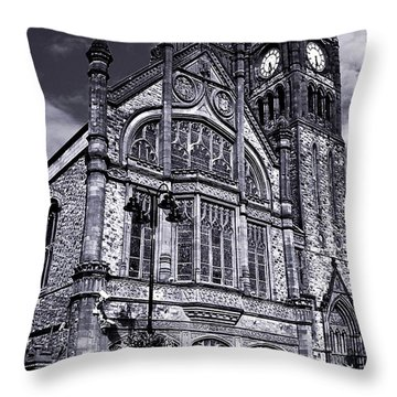 Derry Guildhall Throw Pillow by Nina Ficur Feenan