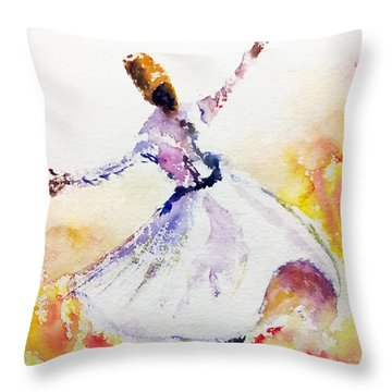 Whirling Sufi Dervish Throw Pillow
