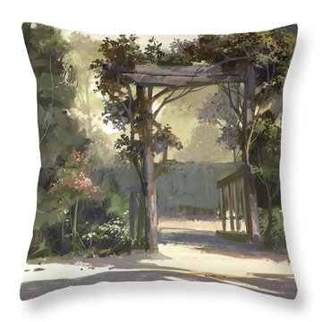 Descanso Gardens Throw Pillow