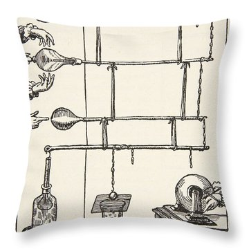 Descarges Electriques Dan Lai Rarefie Throw Pillow by French School