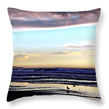 Descendants As Many As The Sand On The Shore Of The Sea Throw Pillow by Sharon Soberon