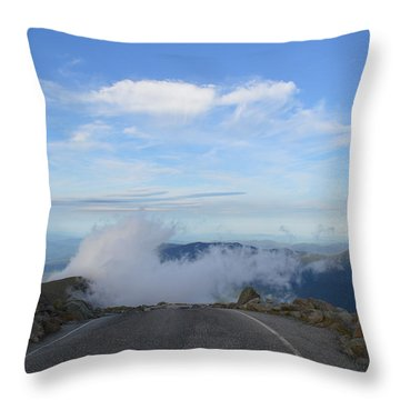 Descending Into The Clouds Throw Pillow