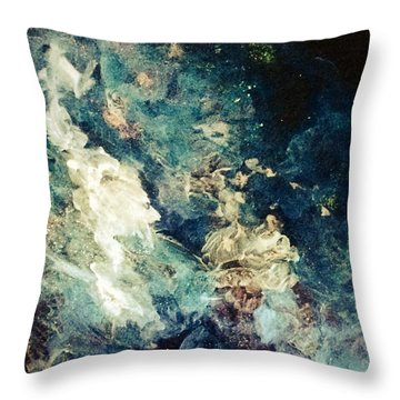 Descensors Throw Pillow by Kathleen Fowler