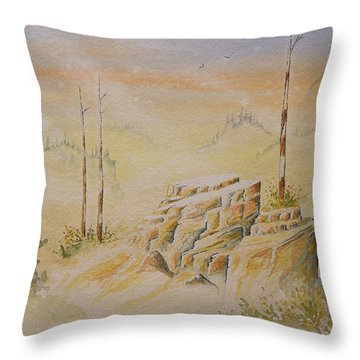 Deschutes Canyon Throw Pillow