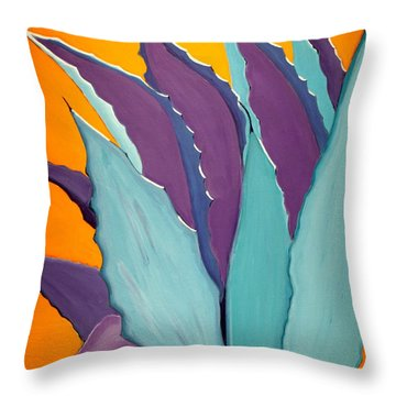 Desert Agave Cactus Throw Pillow
