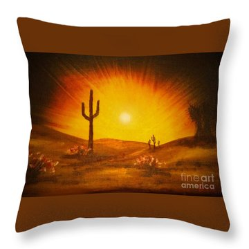 Desert Aglow Throw Pillow