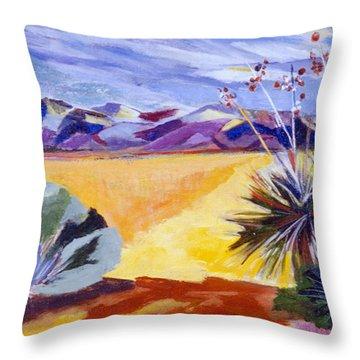 Desert And Mountains Throw Pillow