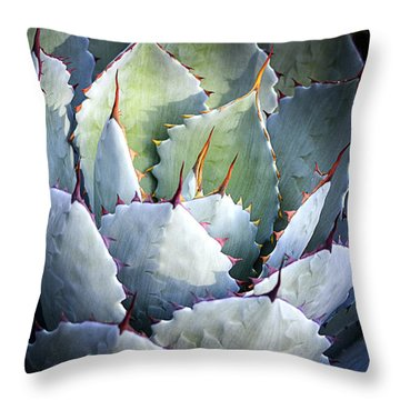 Desert Artichoke Agave Throw Pillow