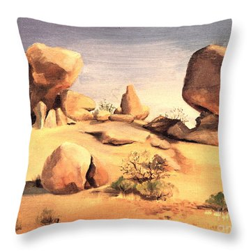 Desert Balanced Rock Throw Pillow