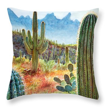 Desert Beauty Throw Pillow by Frank Robert Dixon