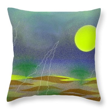 Desert Before Rain Throw Pillow
