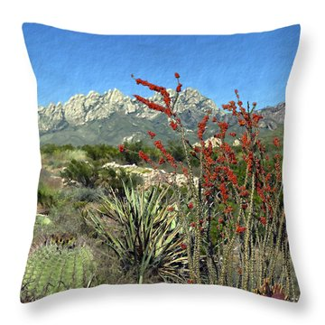 Desert Bloom Throw Pillow
