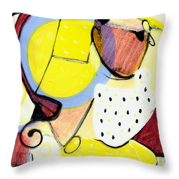 Throw Pillow featuring the painting Desert Bloom by Stephen Lucas