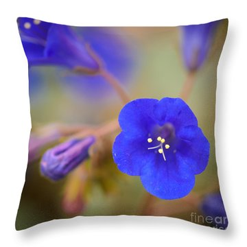 Desert Bluebells II Throw Pillow