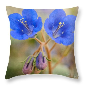Desert Bluebells Throw Pillow