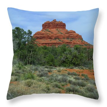 Desert Castle Throw Pillow
