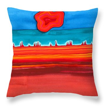 Desert Cities Original Painting Sold Throw Pillow