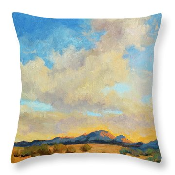 Desert Clouds Throw Pillow