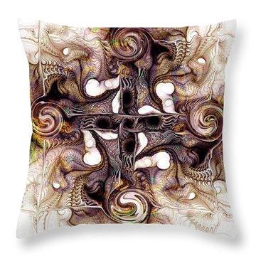 Desert Cross Throw Pillow by Anastasiya Malakhova