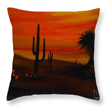 Desert Dance Throw Pillow