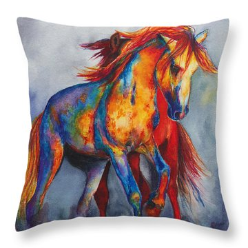 Throw Pillow featuring the painting Desert Dance by Karen Kennedy Chatham