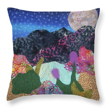 Throw Pillow featuring the tapestry - textile Desert Dreaming by Ellen Levinson