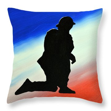Desert Duty II Throw Pillow