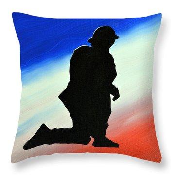 Desert Duty II Throw Pillow