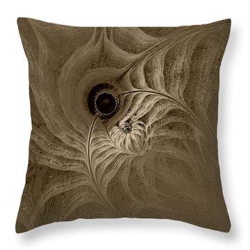 Desert Etching Throw Pillow by GJ Blackman