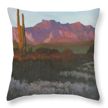 Desert Sunset Glow - Art By Bill Tomsa Throw Pillow
