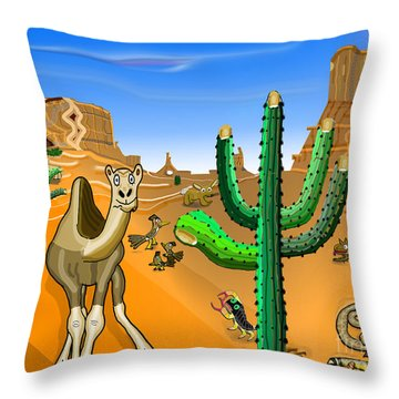 Desert Hands Throw Pillow