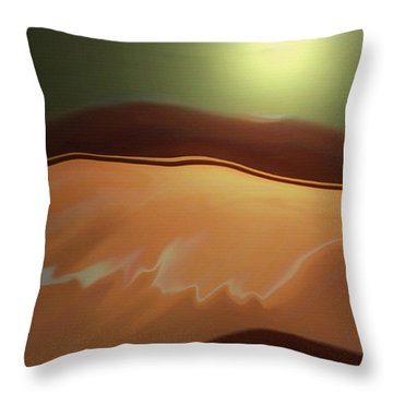 Desert Heat II Throw Pillow
