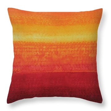 Desert Horizon Original Painting Throw Pillow by Sol Luckman