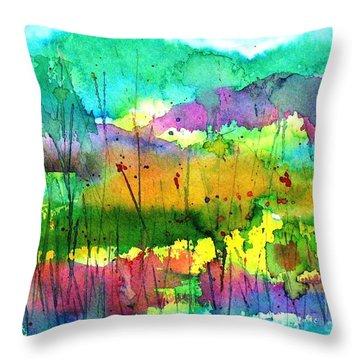 Desert In The Spring Throw Pillow